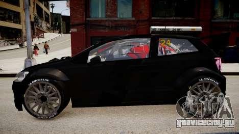 Volkswagen Polo WRC 2013 для GTA 4 вид сзади слева