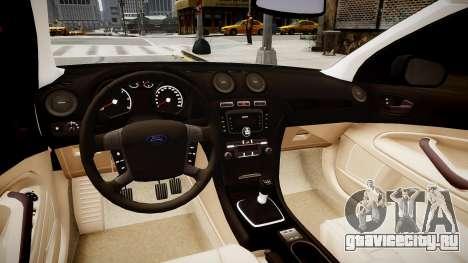Ford Mondeo 2009 для GTA 4 вид изнутри