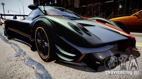Pagani Zonda R Evolucion Final для GTA 4 вид сзади слева