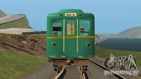Вагон типа Д Путеизмеритель для GTA San Andreas вид сзади слева