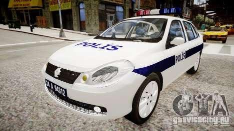 Renault Clio Symbol Police 2011 для GTA 4 вид справа