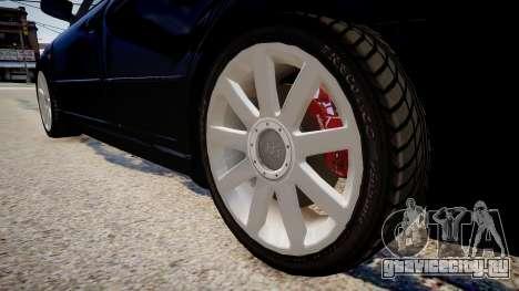 Audi S4 Widebody для GTA 4 вид сзади