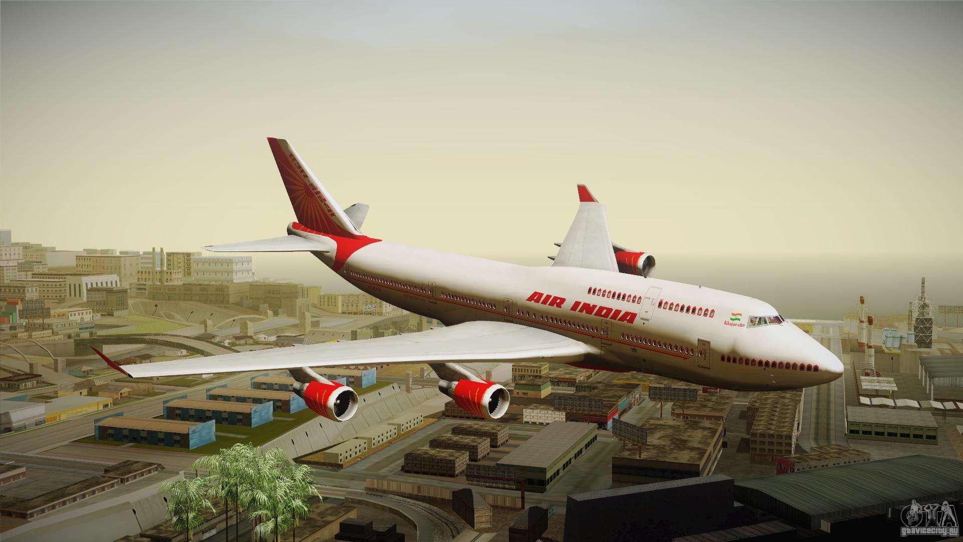 Boeing 747-400 Air India Khajuraho для GTA San Andreas