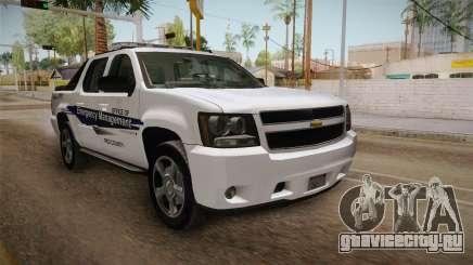 Chevrolet Avalanche 2008 Emergency Management для GTA San Andreas