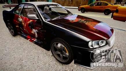 Nissan Skyline R34 Paintjob by eXTaron для GTA 4