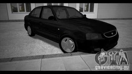 Hyundai Accent Stock чёрный для GTA San Andreas
