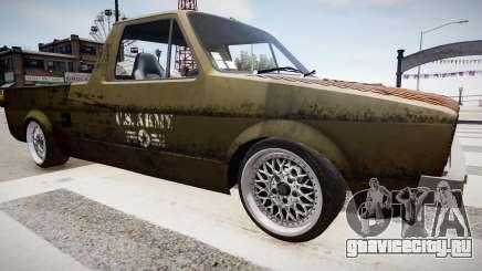 Volkswagen Caddy US Army для GTA 4