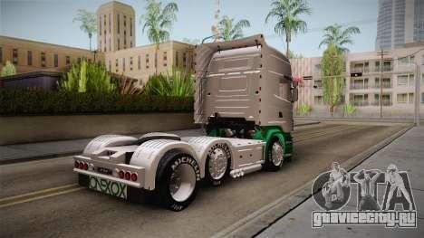 Scania R620 ONEXOX для GTA San Andreas вид сзади слева