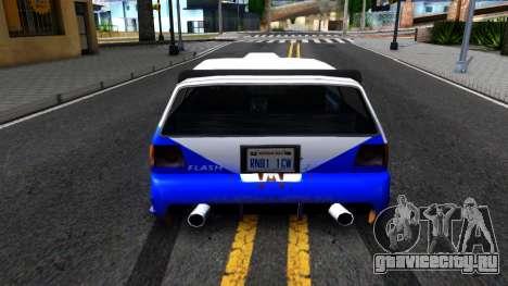 Flash Rally Paintjob для GTA San Andreas вид сзади слева