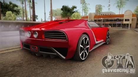 GTA 5 Truffade Nero Cabrio для GTA San Andreas вид слева