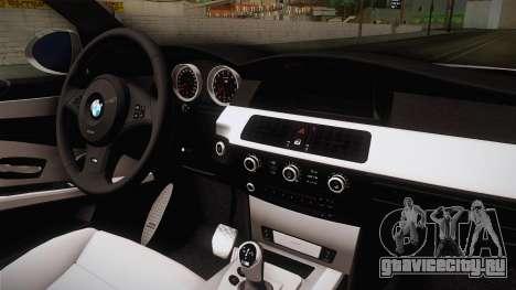 BMW M5 E60 Turkish Police для GTA San Andreas вид изнутри