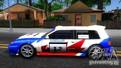 Flash Rally Paintjob для GTA San Andreas вид слева
