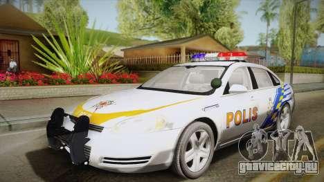 Chevrolet Impala Police Malaysia для GTA San Andreas вид сбоку
