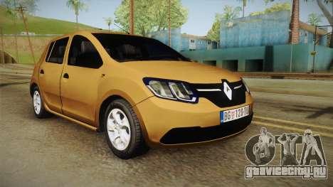 Renault Sandero 2017 для GTA San Andreas