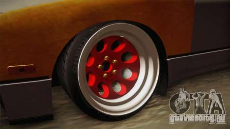Nissan 240SX Rat Stance для GTA San Andreas вид сзади