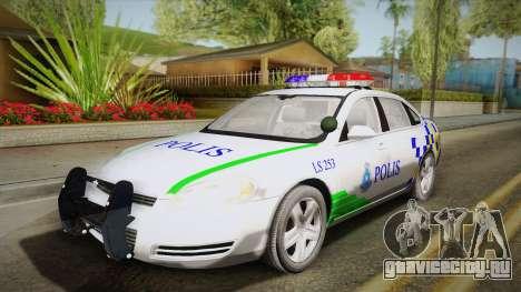 Chevrolet Impala Police Malaysia для GTA San Andreas вид сзади
