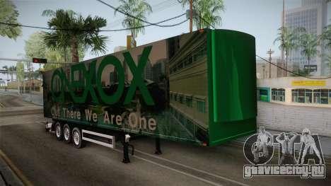 ONEXOX Trailer для GTA San Andreas вид справа