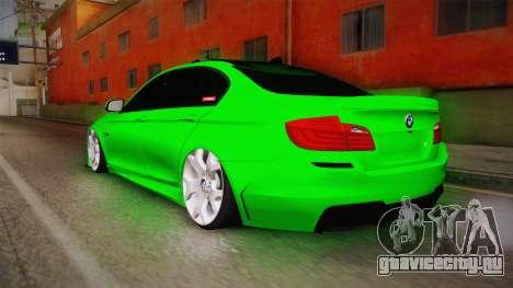 BMW M5 F10 Hulk для GTA San Andreas вид слева