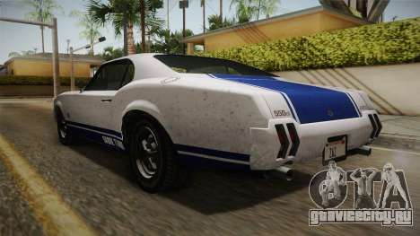 GTA 5 Declasse Sabre GT Painted Bumpers для GTA San Andreas вид слева