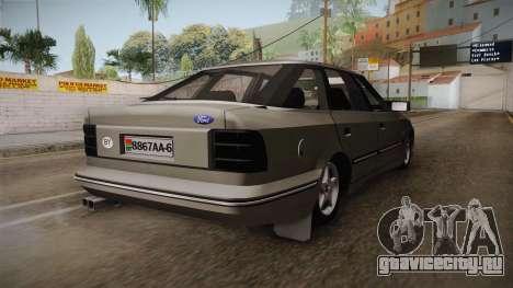 Ford Scorpio Sedan 2.8VR6 GTI для GTA San Andreas вид сзади слева