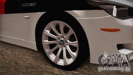 BMW M5 E60 Turkish Police для GTA San Andreas вид сзади
