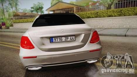 Mercedes-Benz E350e 2016 для GTA San Andreas вид справа