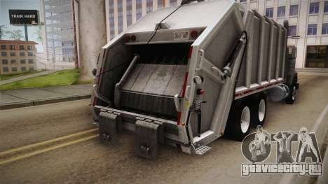 Mack RD690 Trash 1992 v1.0 для GTA San Andreas вид изнутри