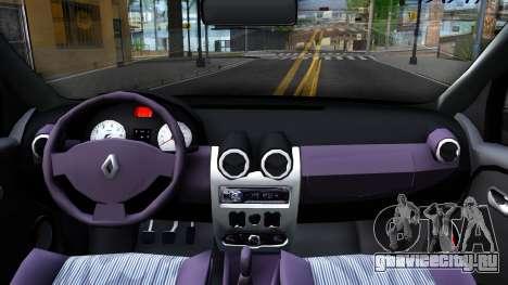 Renault Logan Taxi для GTA San Andreas вид изнутри