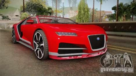GTA 5 Truffade Nero Cabrio для GTA San Andreas вид сзади слева