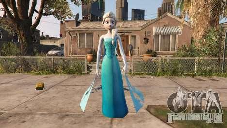 Elsa from Frozen для GTA 5 второй скриншот