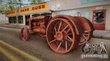 GTA 5 Tractor Worn для GTA San Andreas вид сзади слева