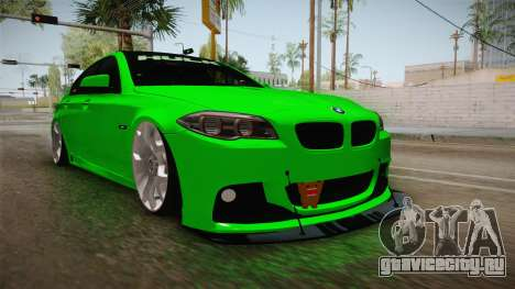 BMW M5 F10 Hulk для GTA San Andreas вид справа