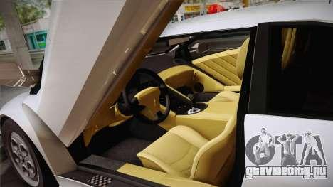Lamborghini Diablo VT FBI 1995 для GTA San Andreas вид изнутри