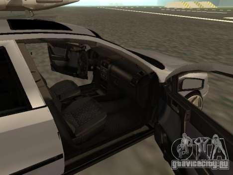 Opel Astra G Armenian для GTA San Andreas вид изнутри
