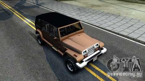 Mesa Crusader для GTA San Andreas вид справа