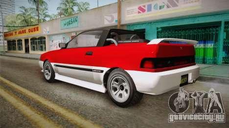 GTA 5 Dinka Blista Cabrio IVF для GTA San Andreas вид слева