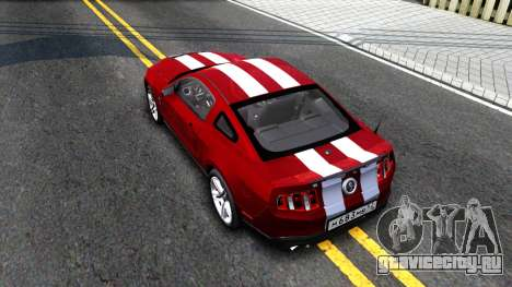 Ford Mustang для GTA San Andreas вид сзади