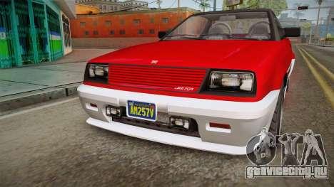 GTA 5 Dinka Blista Cabrio IVF для GTA San Andreas вид изнутри