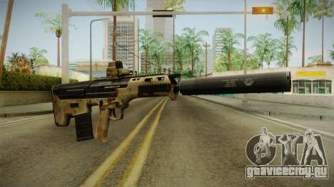 DesertTech Weapon 2 Camo Silenced для GTA San Andreas второй скриншот