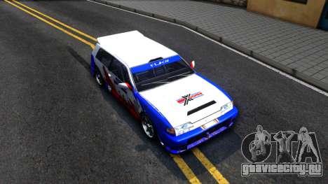 Flash Rally Paintjob для GTA San Andreas вид справа