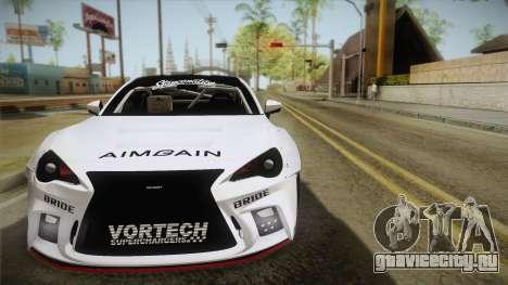 Scion FR-S Aimgain для GTA San Andreas вид сзади