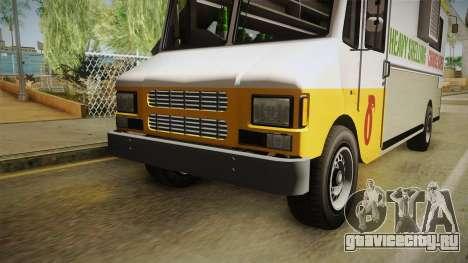 GTA 5 Brute Taco Van IVF для GTA San Andreas вид сверху