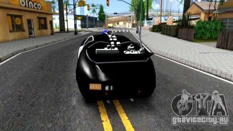 Alien Police San Fierro для GTA San Andreas вид сзади слева