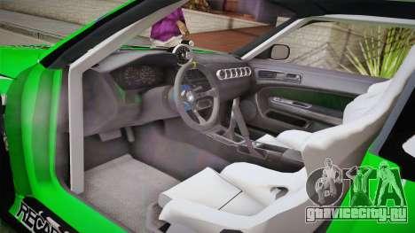 Nissan Silvia S14 Drift Speedhunters Saekano для GTA San Andreas вид изнутри