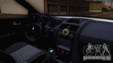 Renault Megane Hatchback v1.1 для GTA San Andreas вид изнутри