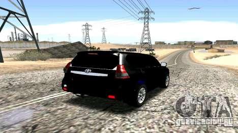 Toyota Land Cruiser Prado 150 2016 для GTA San Andreas вид сзади слева