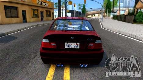 BMW M3 E46 для GTA San Andreas вид сзади слева