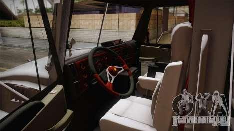 Mack Granite 2008 для GTA San Andreas вид изнутри