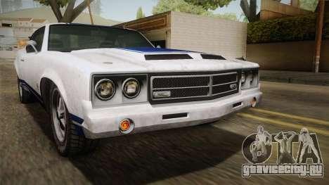 GTA 5 Declasse Sabre GT Painted Bumpers для GTA San Andreas вид снизу