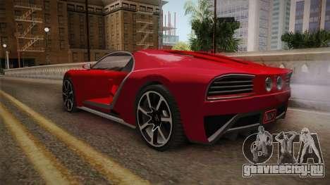 GTA 5 Truffade Nero Cabrio для GTA San Andreas вид справа